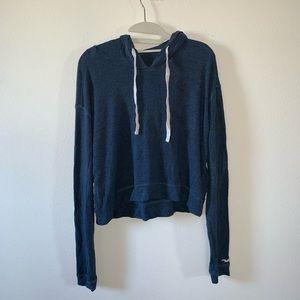 Blue cropped Hollister hoodie